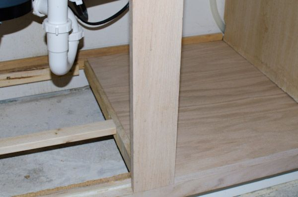 Replace Water Damaged Cabinet Bottom The Domestic Woman Kitchen