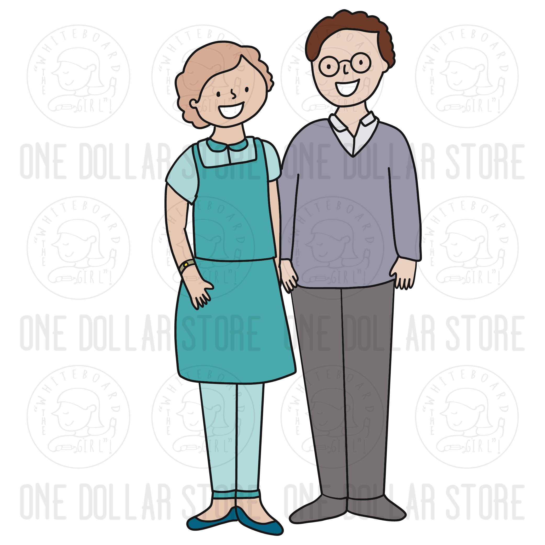 #cartoon #clip #art #clipart #elderly #europe #female #free #grandfather  #grandma #grandmother #grandpa #human #illustration #isolated #male #mature  #old ...