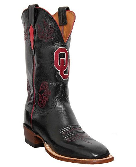 a92b5c4bb Lucchese Boots - Handcrafted University of Oklahoma Lonestar Calf Cowboy  Boots