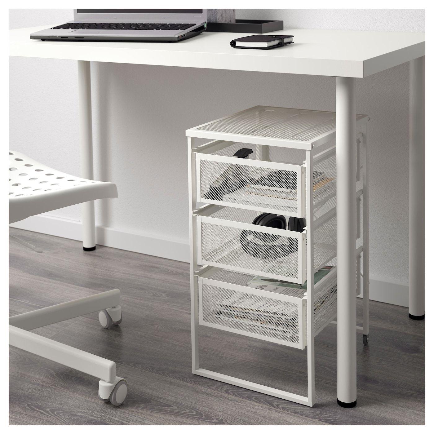 Lennart Schubladenelement Weiss Ikea Deutschland Drawer Unit Under Desk Storage Ikea