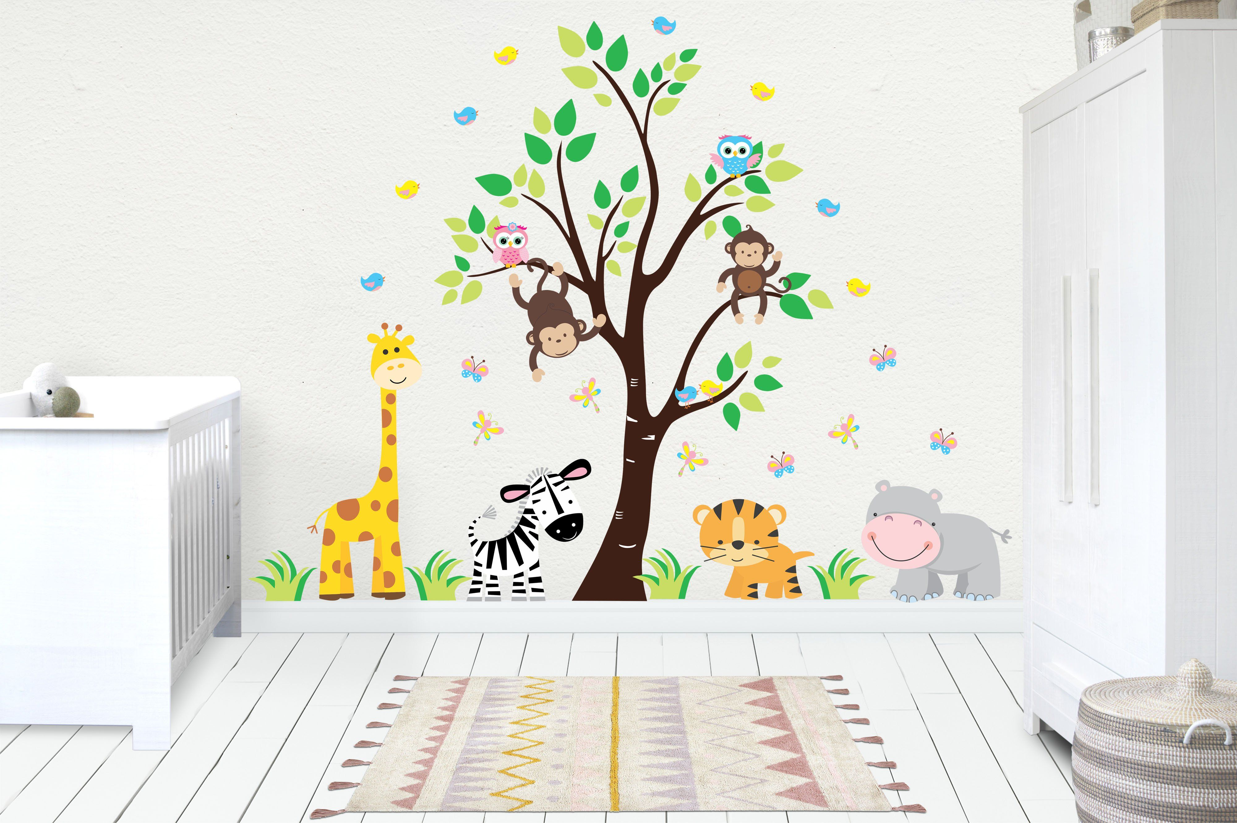 Wall Decals Baby Kids Room Stickers Jungle Baby Decals