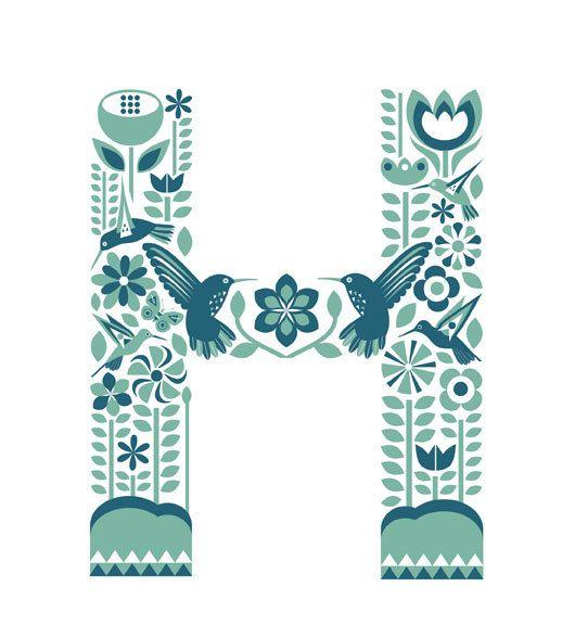 Flourish print/banner by KateMcLelland on Etsy, $65.00