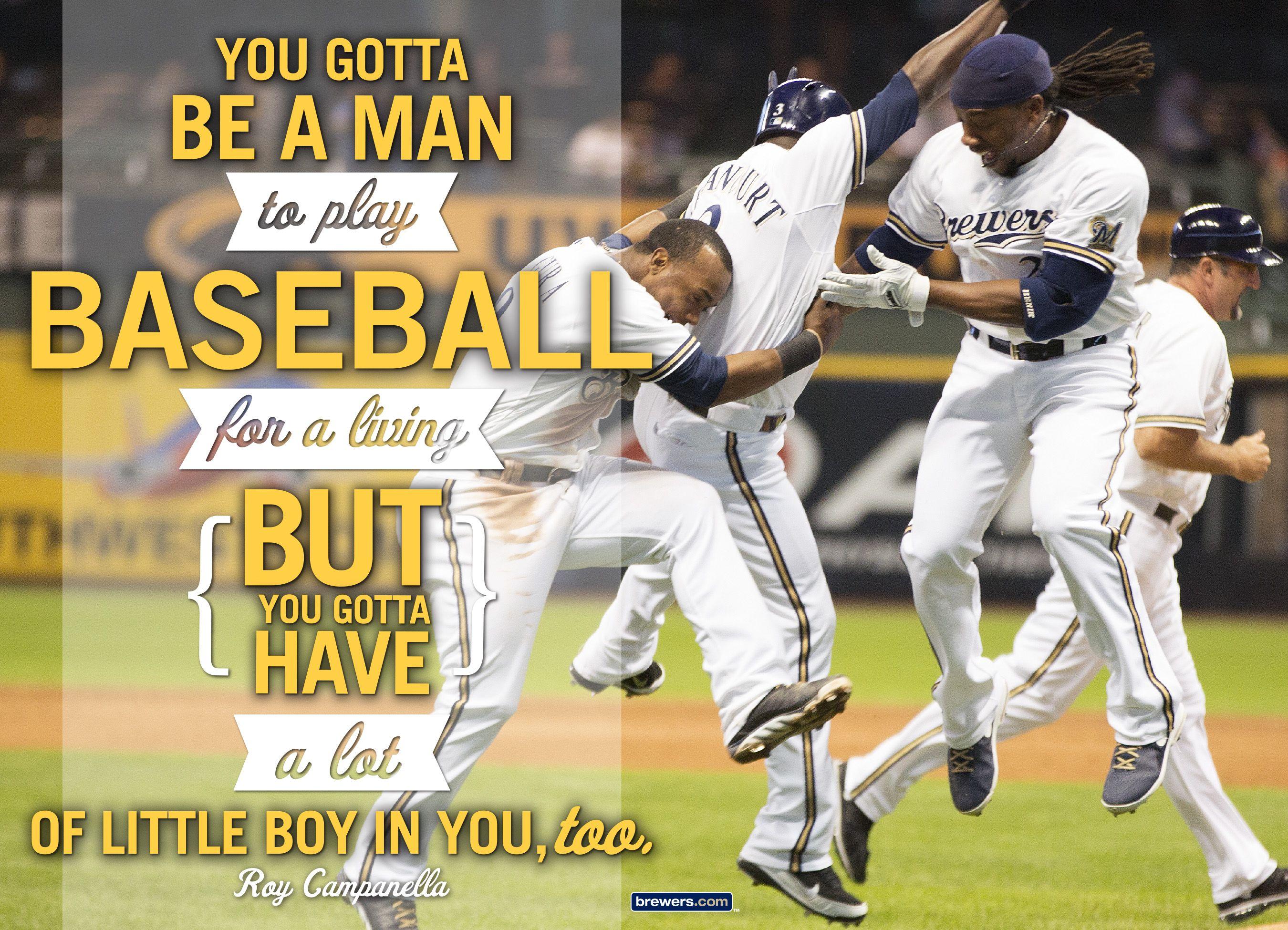 John Cait Plus Nine Baseball Quotes Brewers Baseball Baseball Boys