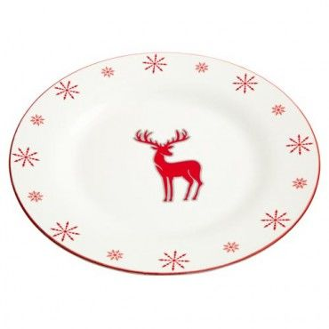 Christmas Stag Dinner Plate #ChristmasCostsLess  sc 1 st  Pinterest : dinner plates uk - pezcame.com