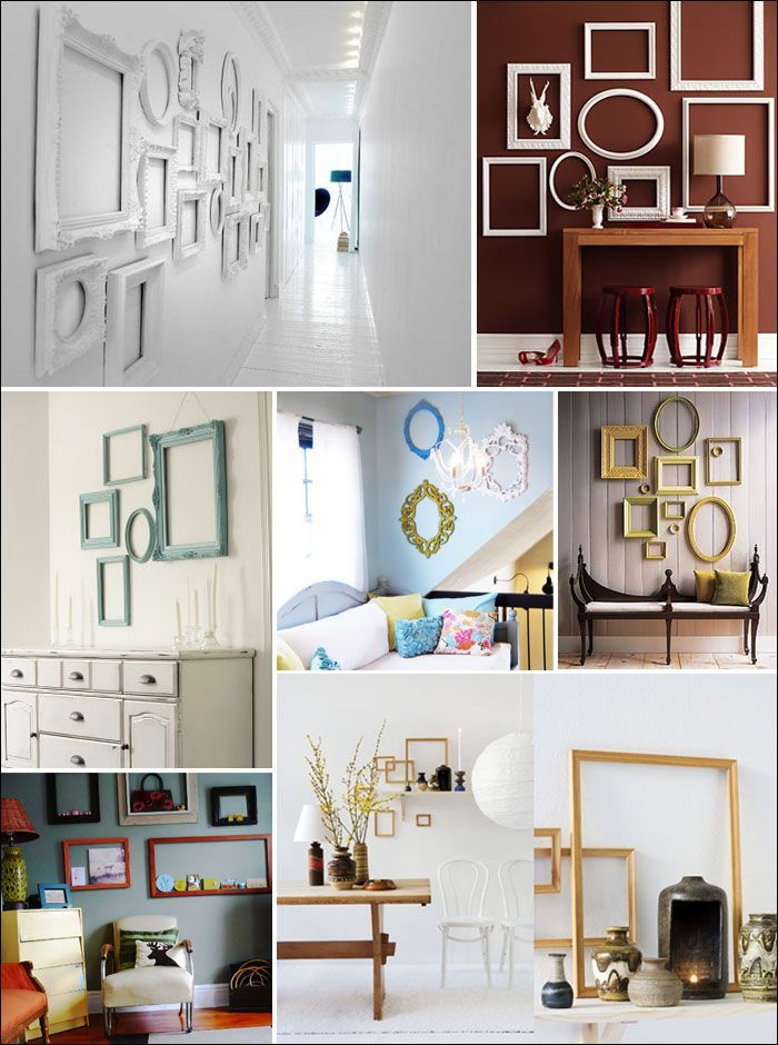 Empty Frames As Art unique home decor | creative home | Pinterest ...