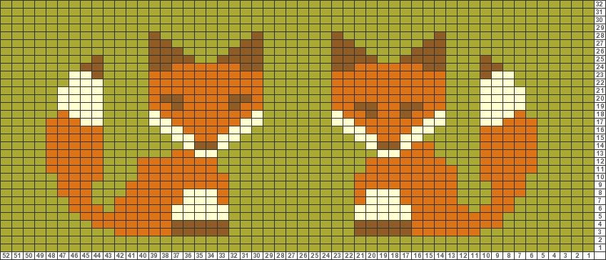 Tricksy Knitter Charts: Foxes by Alicia … | Pinteres…