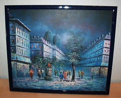 sparen25 infostadtszene paris in frankreich olgemalde auf leinwand plus keilrahmen com art painting persönliche bilder foto drucken