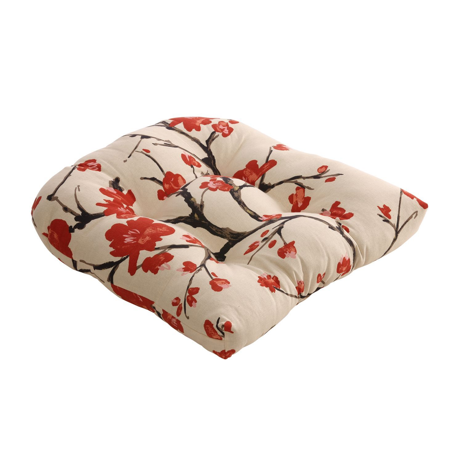 Beigered flowering branch chair cushion by pillow perfect pillows