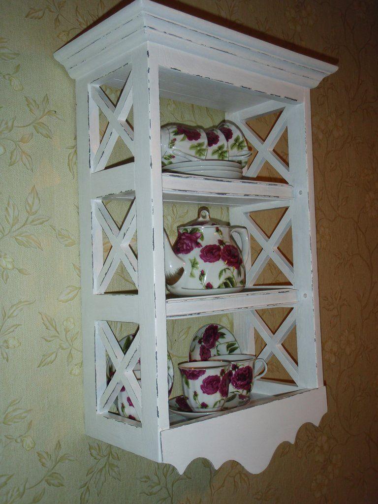 Полка этажерка прованс крашенная и состаренная 1682 грн + доставка ...