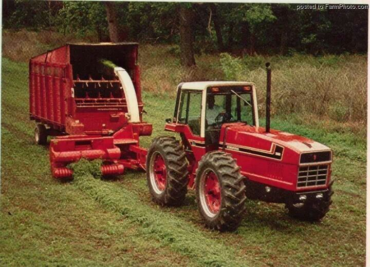 Antique International Harvester Wagon : W ih forage harvester wagon