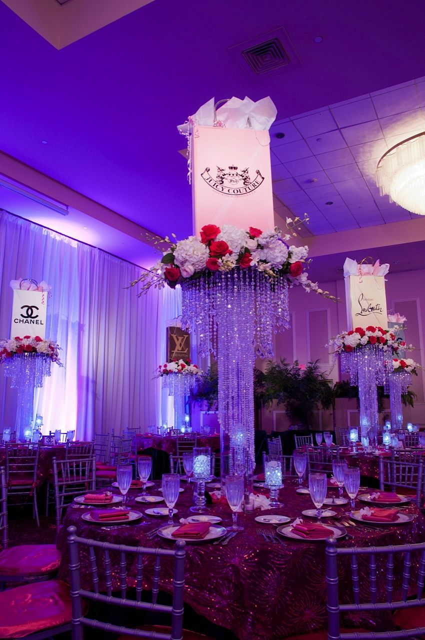 Shopping Themed Bat Mitzvah Adult Centerpieces Party Perfect Boca ...