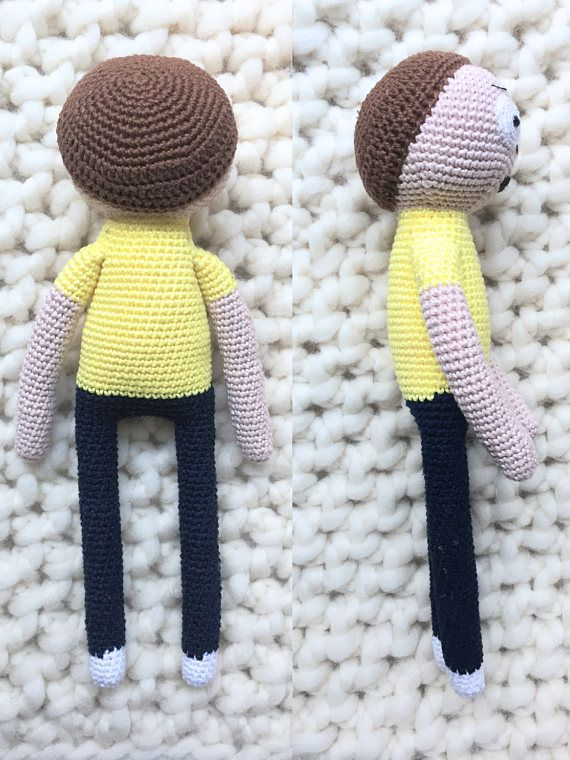 Morty Smith Pattern Book Amigurumi Rick and Morty Crochet   morty ...