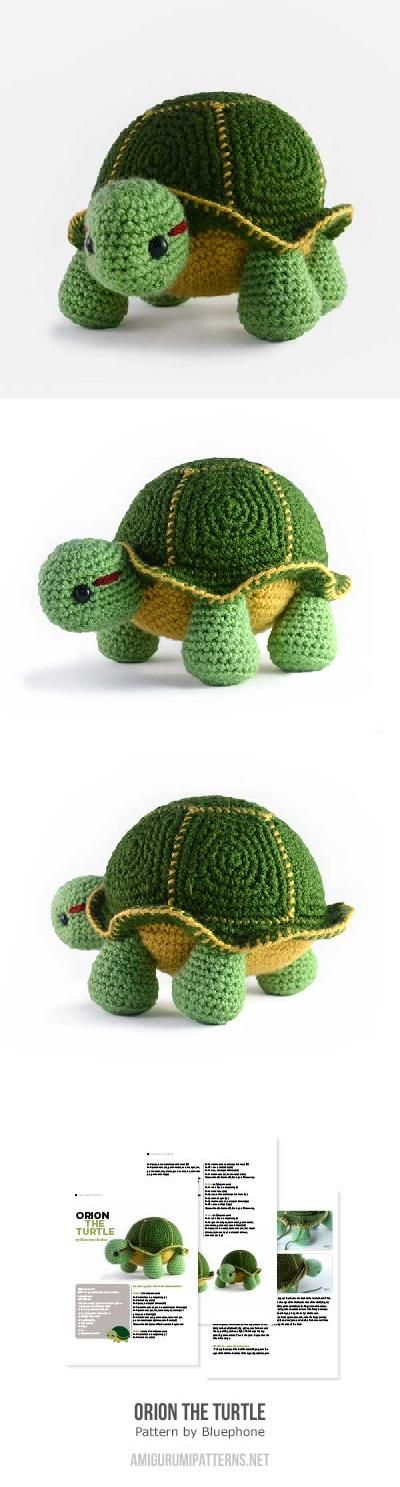 Orion the turtle amigurumi pattern by Bluephone Studios | Pinterest ...