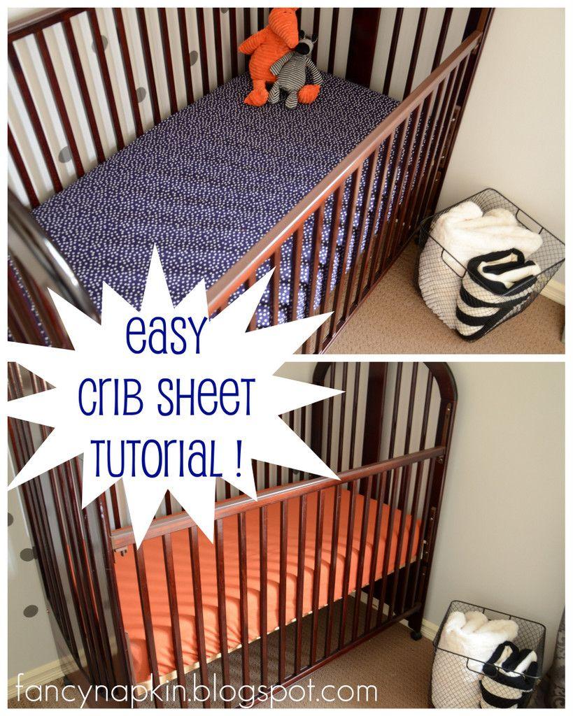 Diy Crib Sheet Tutorial Crib Sheet Tutorial Diy Crib Baby