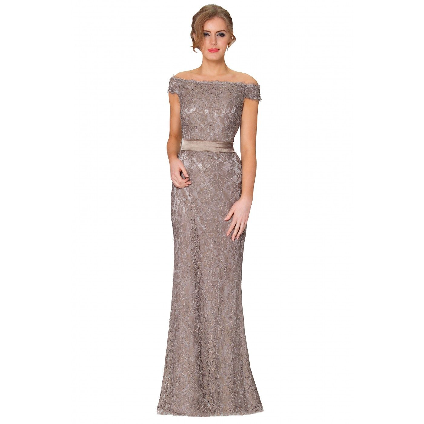 Charming lace fish tail covered long evening bridesmaid dress