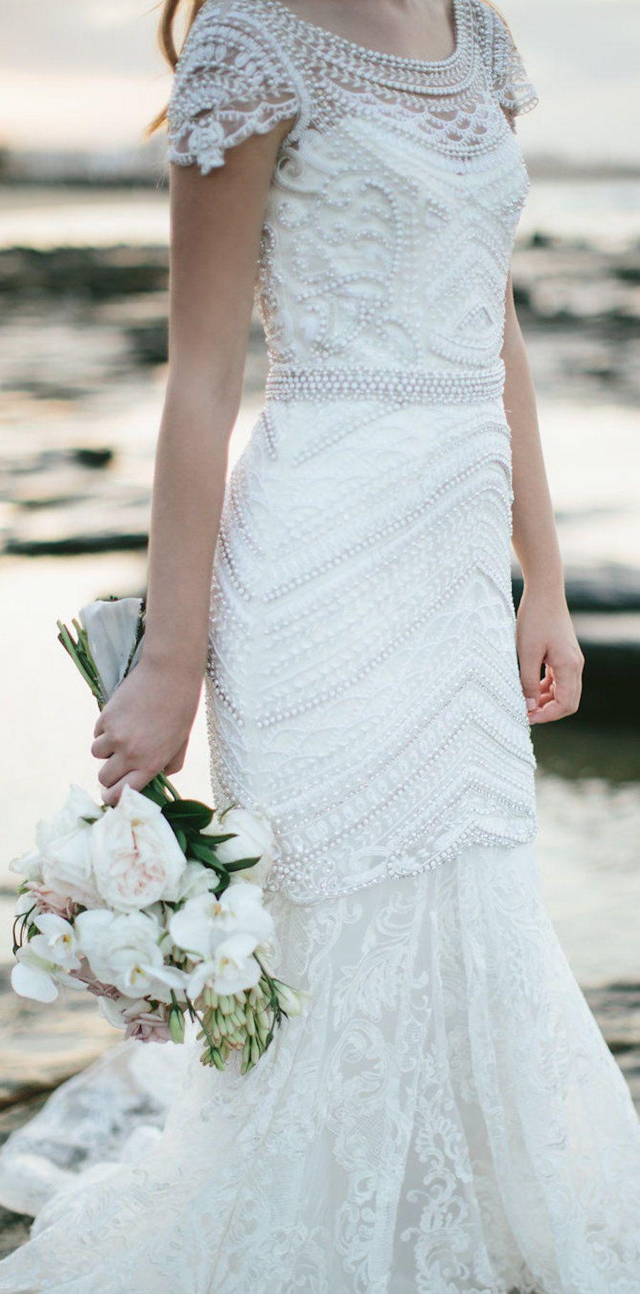 Wedding Dress by Anna Campbell Bridal #weddingdress #weddings #bride ...