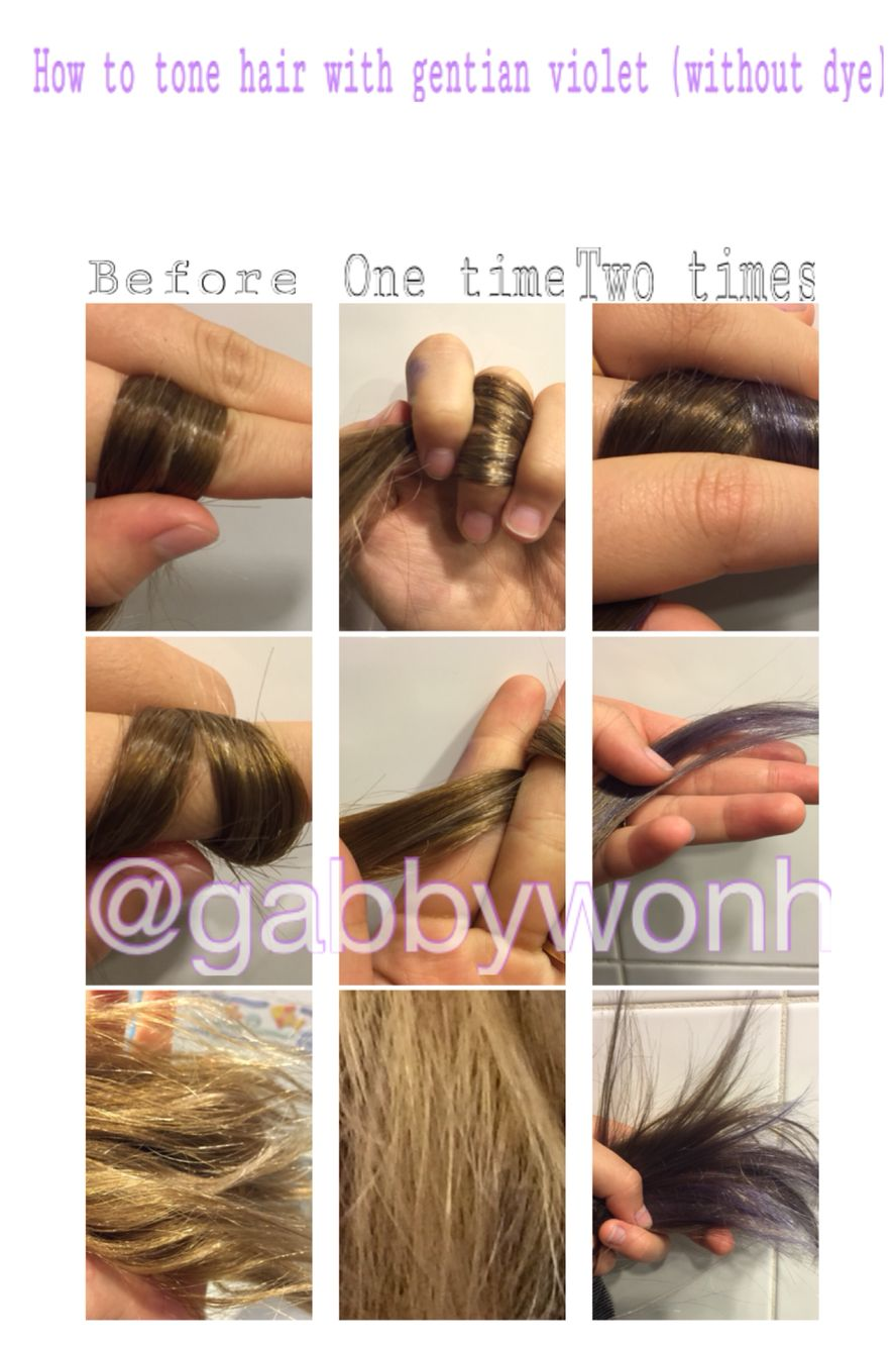 How To Tone Your Hair With Gentian Violet No Hair Dye Go To Your Pharmacy And Pick Up Gentian Violet 1 2 Amazo Best Diy Hair Mask Diy Hair Mask Hair Mask