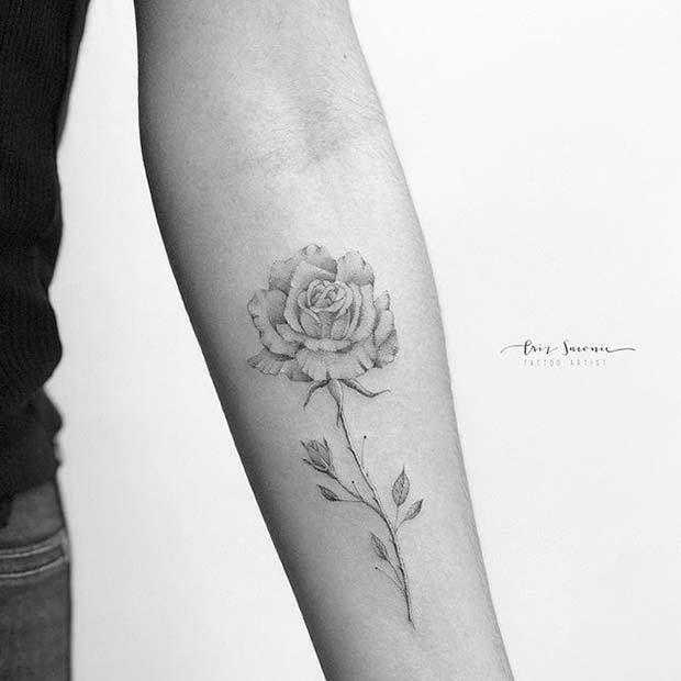 5c185f921 10 Beautiful Rose Tattoo Ideas for Women | Tattoos | Rose tattoos ...