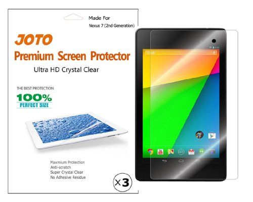 JOTO Premium Screen Protector Film Ultra Clear (Invisible) for the New Google Nexus 7 FHD 2013 (2nd generation... $2.99 (save $27.00)
