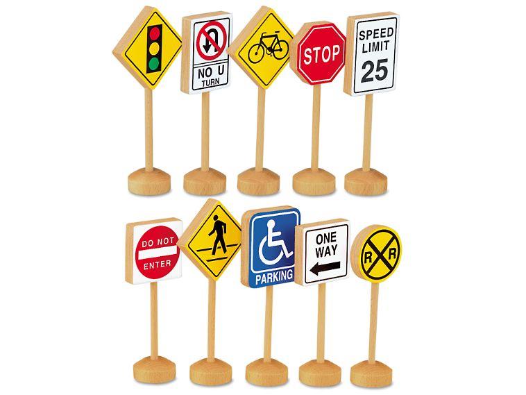 Block Play Traffic Signs