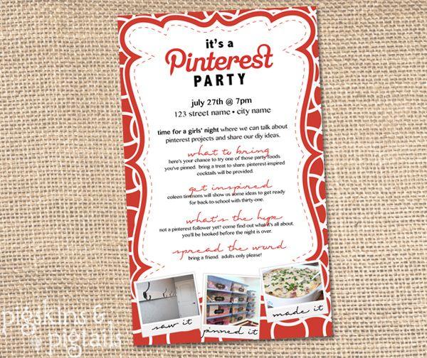 Pinterest Party – Pinterest Party Invitations
