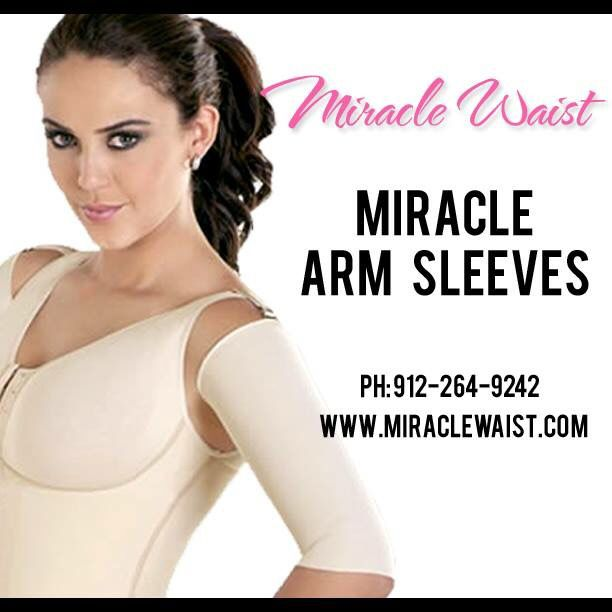 d87d8fb525 Miracle Waist Arm Sleeves help to tone and shape your arms. Visit  www.miraclewaist.com or call 912-264-9242