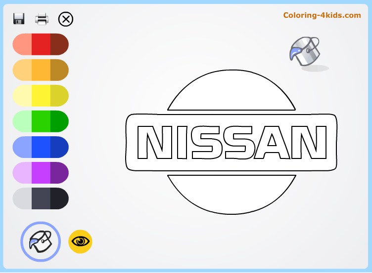 Nissan Logo Coloring Pages Online Cars Logos