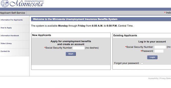 Minnesota Unemployment Login Www1 Uimn Org Benefits Unemployment Minnesota Login