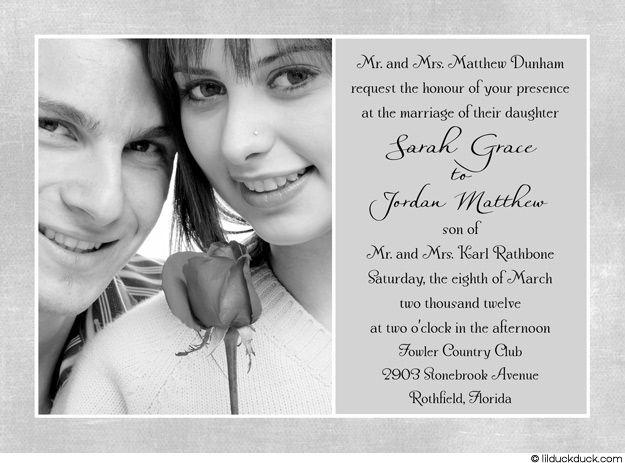 Photo Wedding Invitations Wedding Invitation Samples Simple Wedding Invitations
