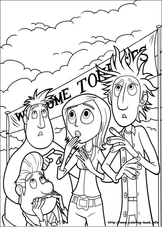Cloudy with a chance of meatballs coloring picture | Art Therapy ...