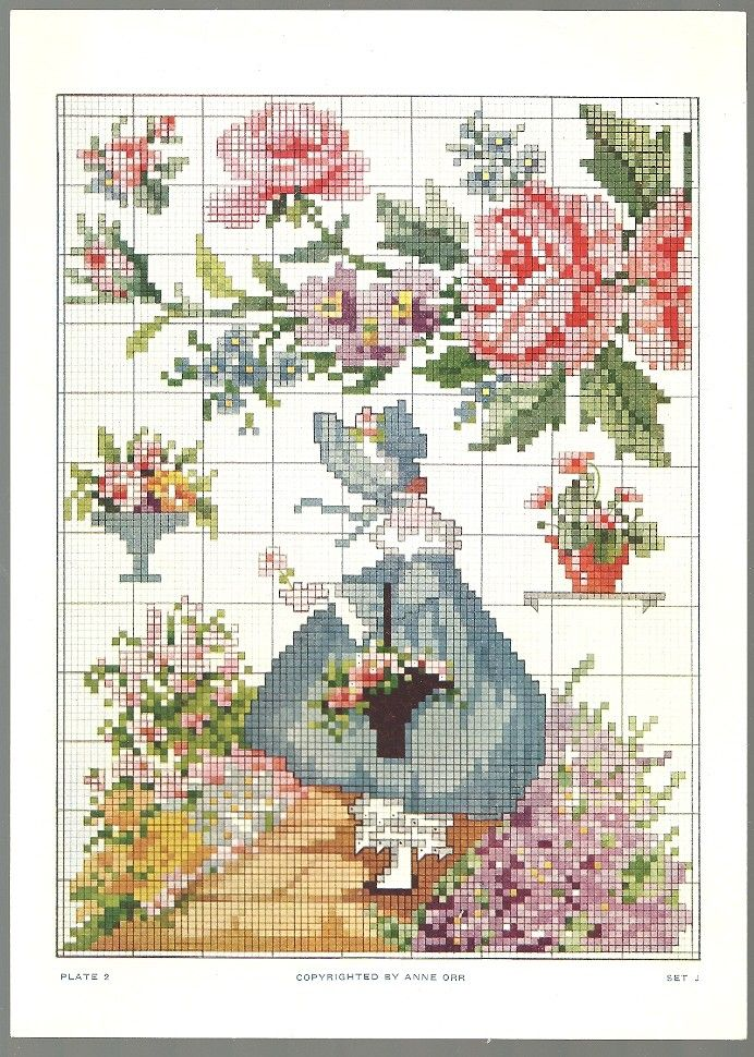 Here Are Some Sweet Vintage Cross Stitch Patterns By Ann