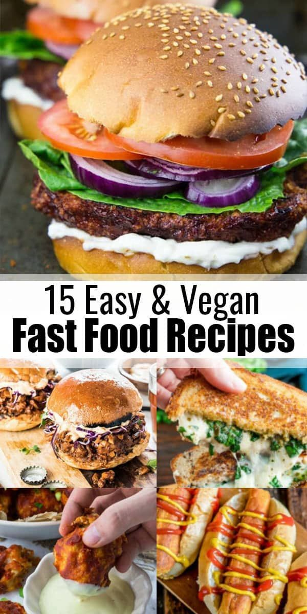 You like burgers, sandwiches, tacos, and burritos and you're looking for vegan versions? Then you will love this roundup of 15 drool-worthy vegan fast food recipes! These recipes make such a great vegan dinner!