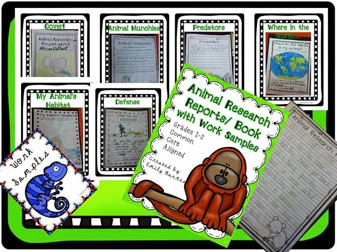Animal Research Project Report Grades 1st and 2nd Common Core - research project report