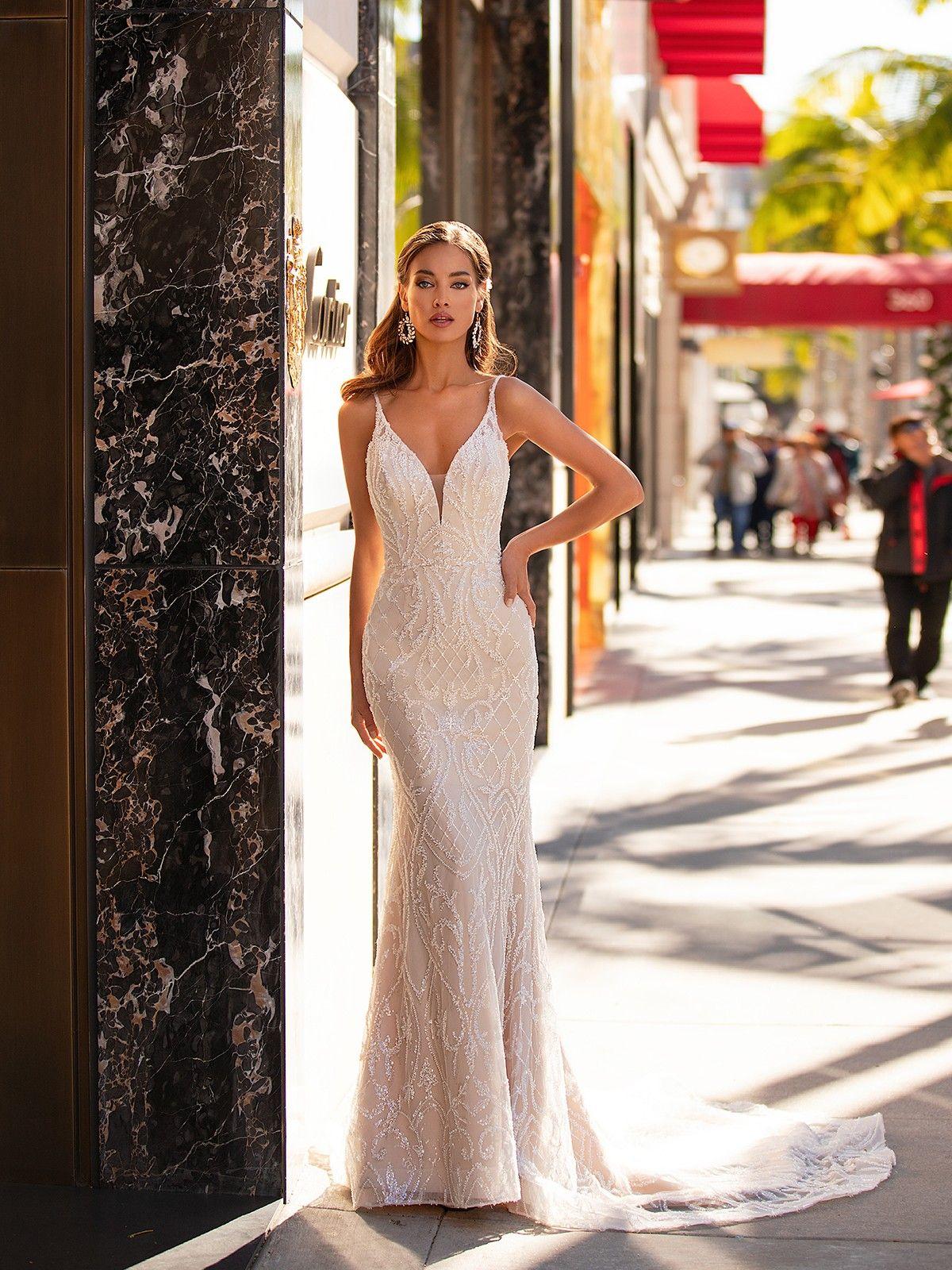 Beaded Sweetheart Neck Mermaid Couture Gown H1442 Moonlight Wedding Dress Moonlight Bridal Wedding Dresses [ 1600 x 1200 Pixel ]