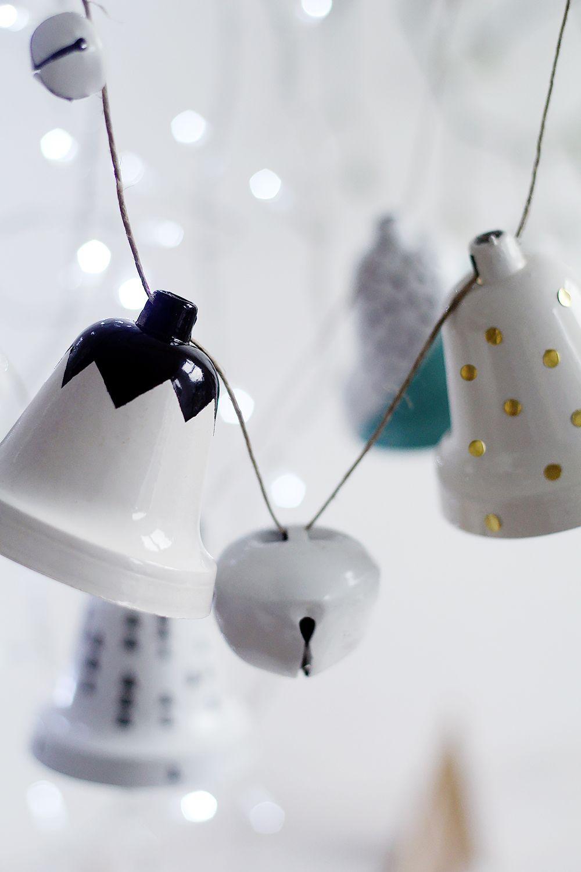 Campanas de Navidad DIY. Small & Low Cost | Xmas | Pinterest