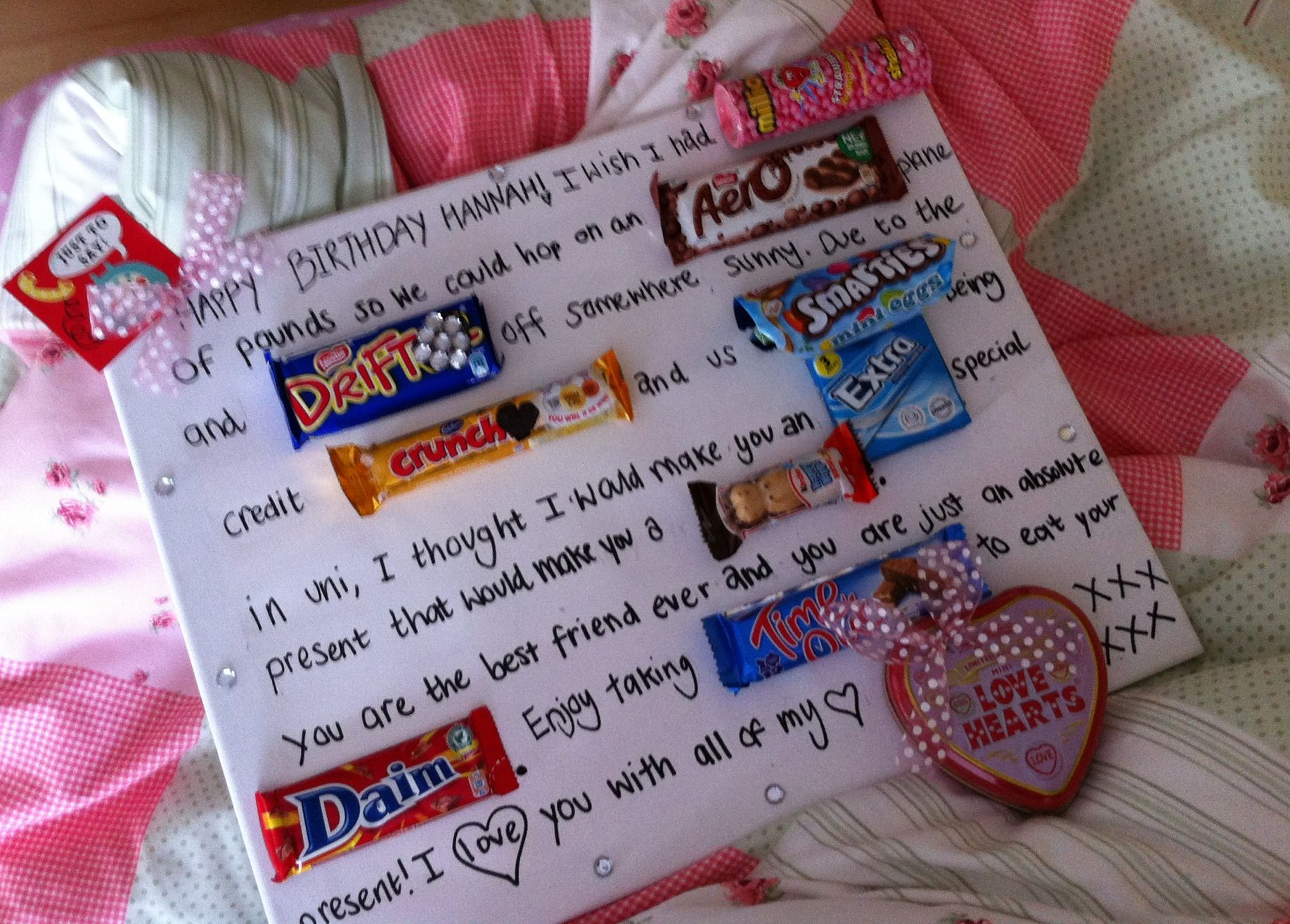 Sweetie Present! Perfect for mums, dads, best friends