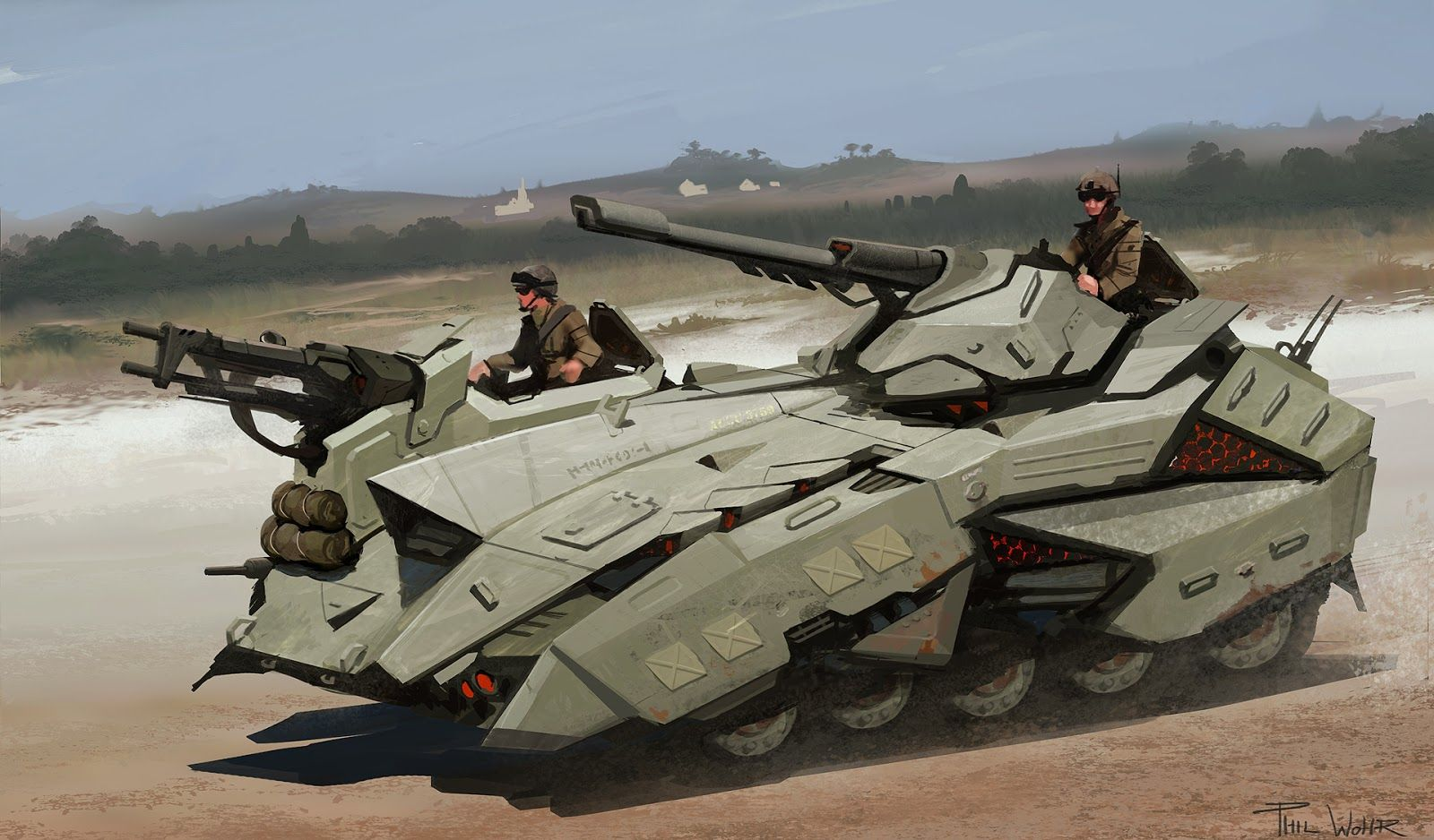 Future Military Tanks Art Of Phil Woh...