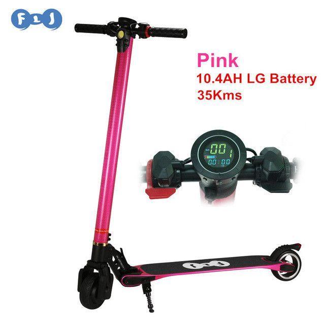 FLJ Foldable Electric scooter Carbon Fiber Skateboard