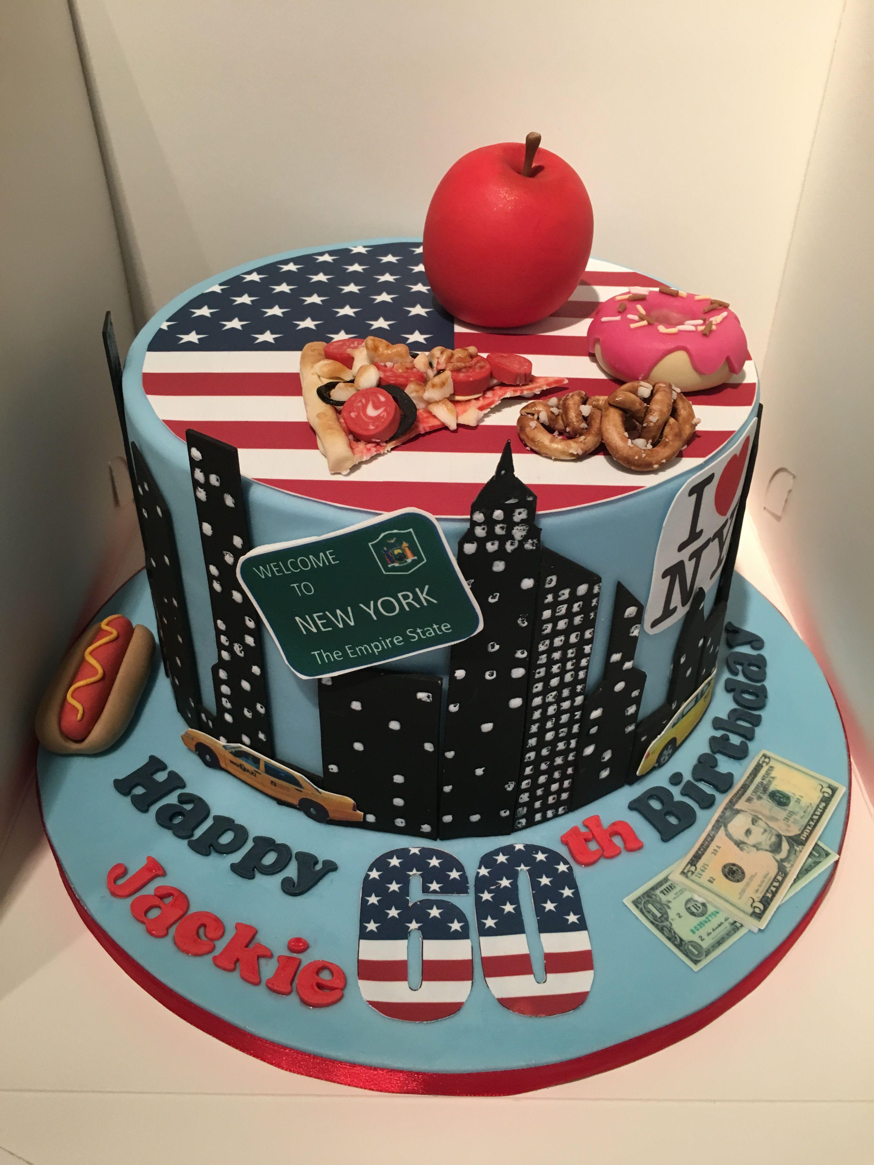 Outstanding New York Themed Birthday Cake New York Cake Themed Birthday Cakes Funny Birthday Cards Online Elaedamsfinfo