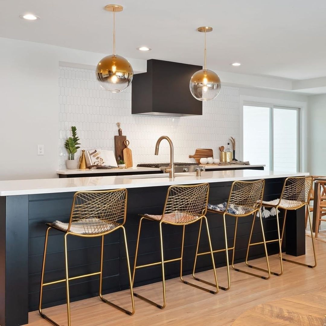 Cb2 On Instagram We Re Just Going To Say It This Is The Kitchen Of Our Dreams Ta Modern Kitchen Bar White Kitchen Bar Stools Modern Bar Stools Kitchen