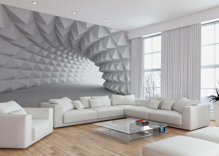Wand Mit Fototapete Gestalten - Minimalistische Tunnel | Wohn
