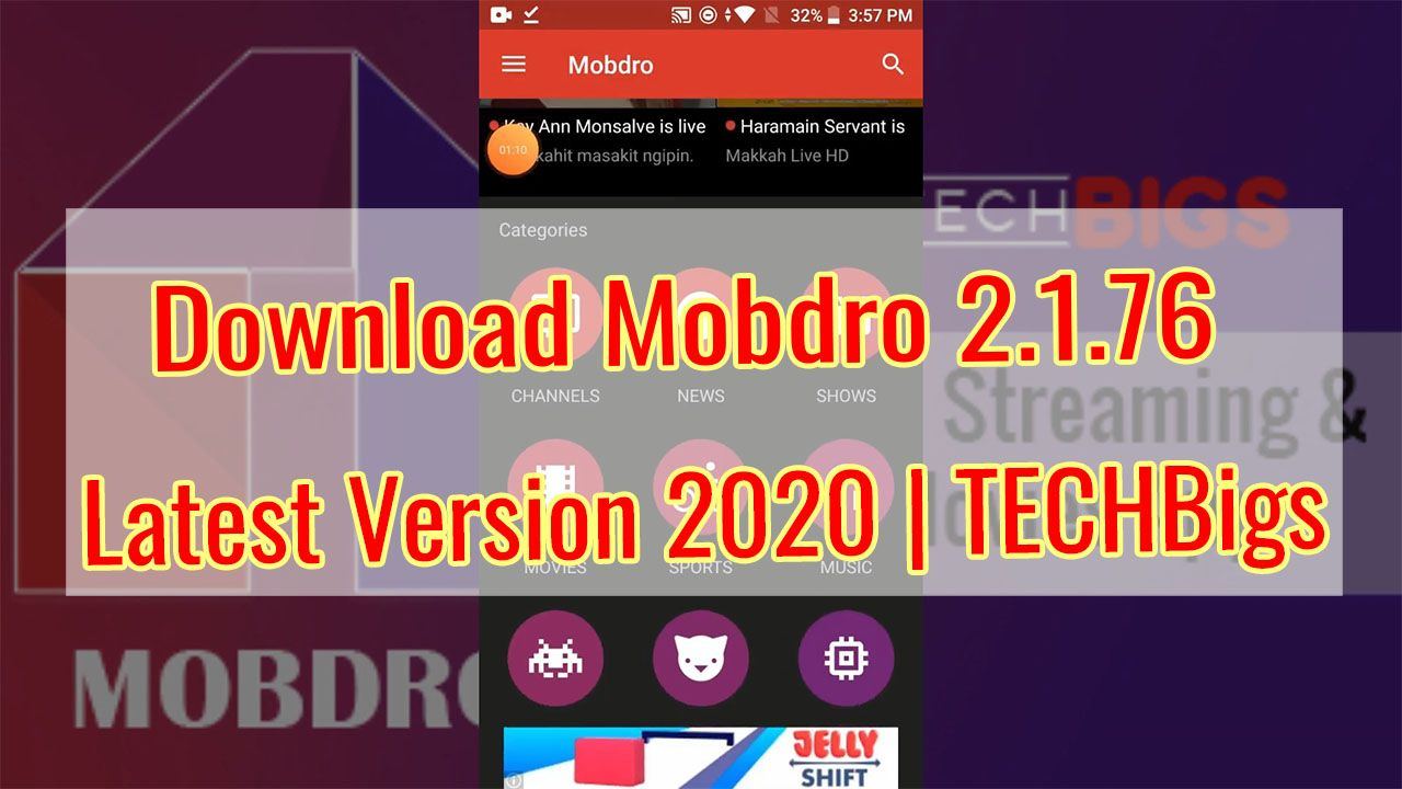 Update Mobdro APK 2.1.76 free Download Latest version 2020