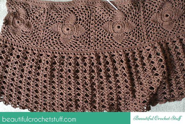 Crochet Falda maxi del Patrón Libre | Hermosa materia ganchillo ...