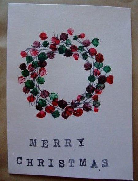 Beste einfache DIY Weihnachtskarte Ideen - #beste #einfache #ideen #weihnachtskarte #bricolagenoelenfantfacile