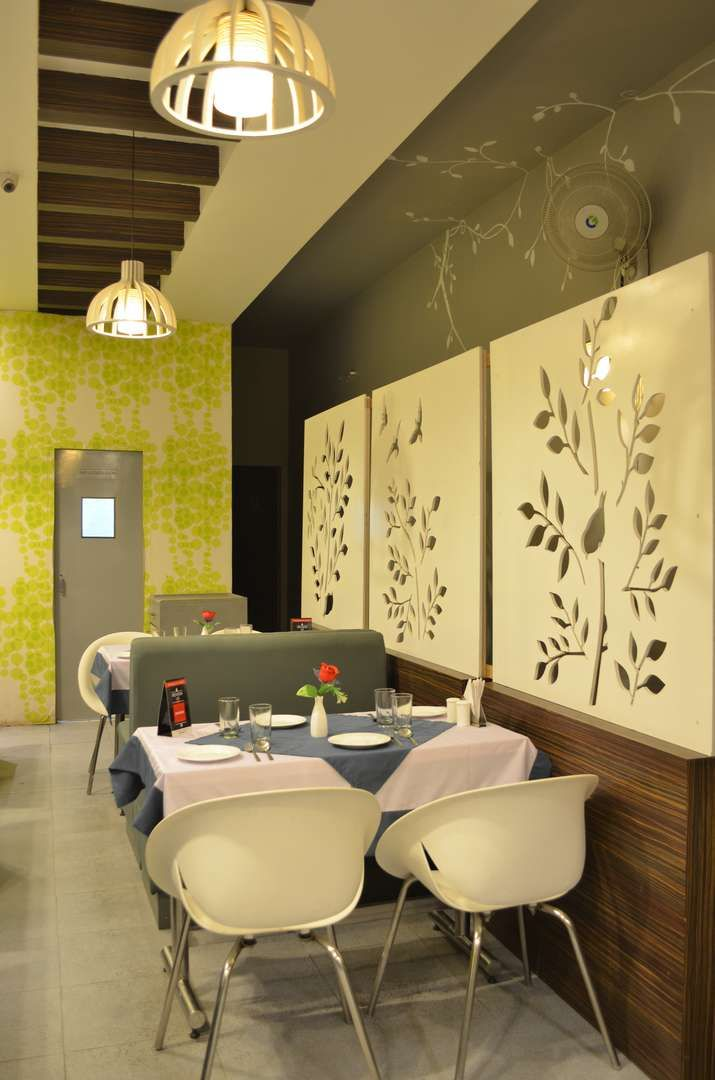 An Indian Fusion restaurant with laser cut wall paneling :F Eleven ...