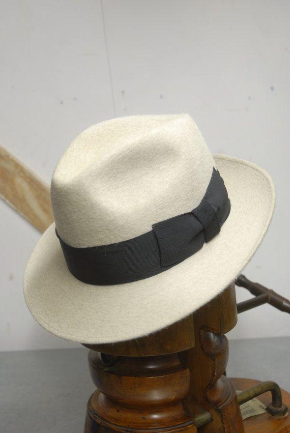 7d6ebd538cc404 Vintage White/Cream Rockel Hutfabrik Fur Felt by TheVintageHatCo ...