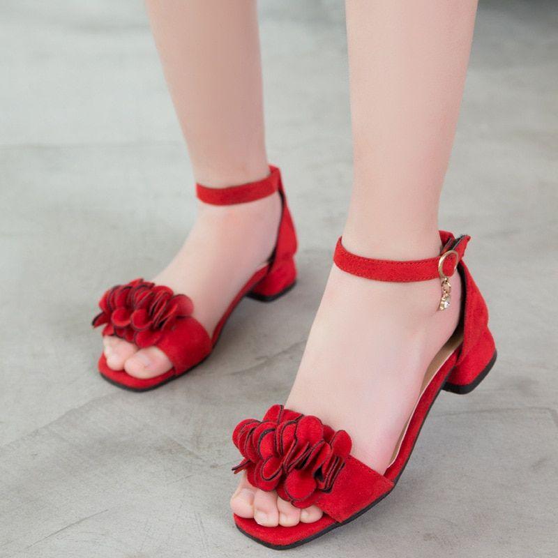 Girls high heels, Kids sandals summer