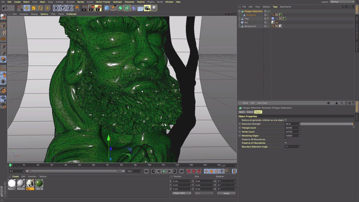 Understanding the Polygon Reduction Generator In Cinema 4D ...
