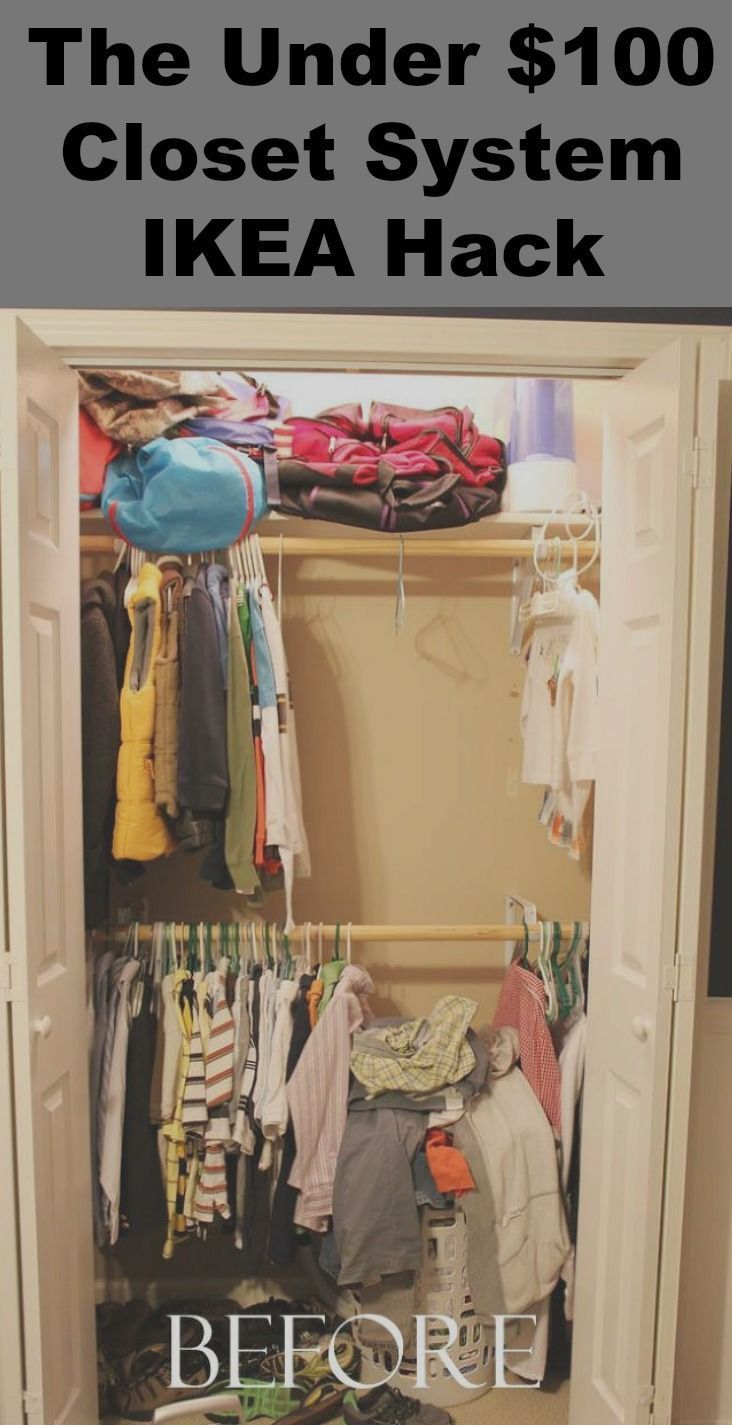 Organize Your Closets With This Under $100.00 Closet System Ikea Hack