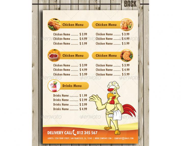 Imbiss Flyer Vorlage Fast Food Speisekarten Flyer Speisekarte Flyer Vorlage Imbiss